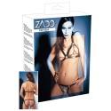 Otvoreni brushalter i gaćice od kože Leather Bikini S/L