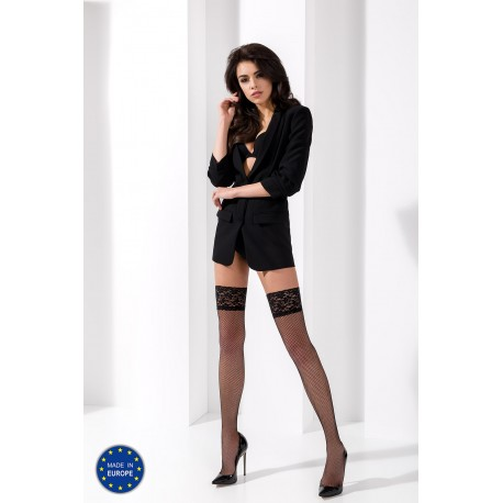 Stay-up stockings ST020 3/4 nero - Passion