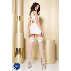 Stay-up stockings ST107 3/4 bianco - Passion