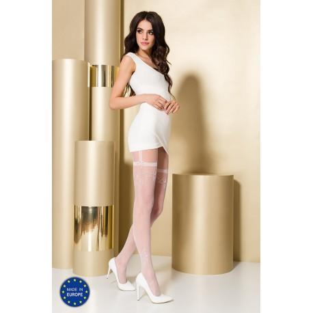 Tights TI108 3/4 bianco - Passion