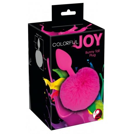 Анальная пробка Colorful Joy Bunny Tail