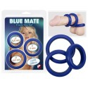 Three Blue silicone rings