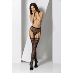 Tights S003 black  - Passion