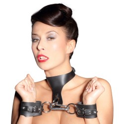 Kožne lisice i okovratnik Leather Bondage Set