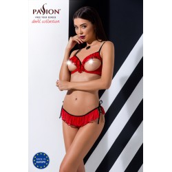 """CHERRY SET WITH OPEN BRA red L/XL - Passion"""