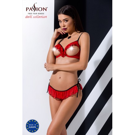 """""""CHERRY SET WITH OPEN BRA red S/M - Passion"""""""