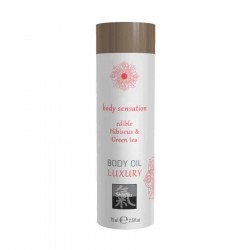 Shiatsu BODY OIL LUXURY edible Hibiscus & Green tea