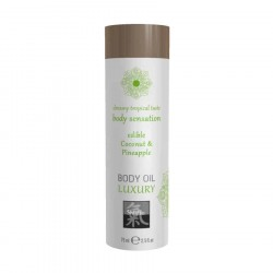Shiatsu BODY OIL LUXURY edible Coconut & Pineapple
