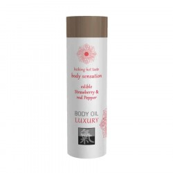 Shiatsu BODY OIL LUXURY edible Strawberry & red Pepper