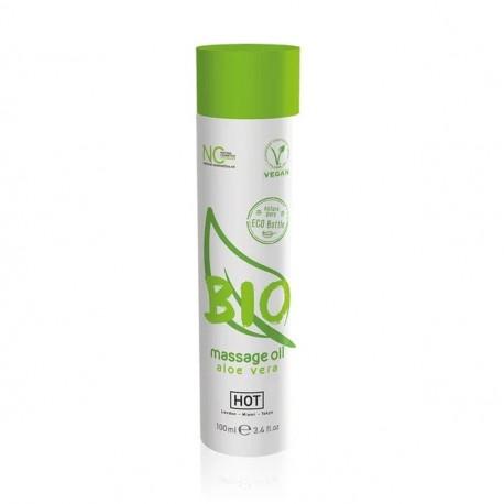 Массажное масло HOT BIO massage oil aloe vera 100ml