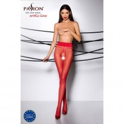 Tights TIOPEN 001 roso 1/2 (20 den) - Passion