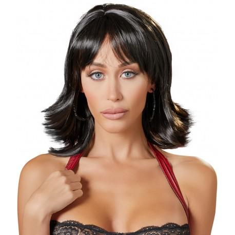 Perika Choppy Black Wig